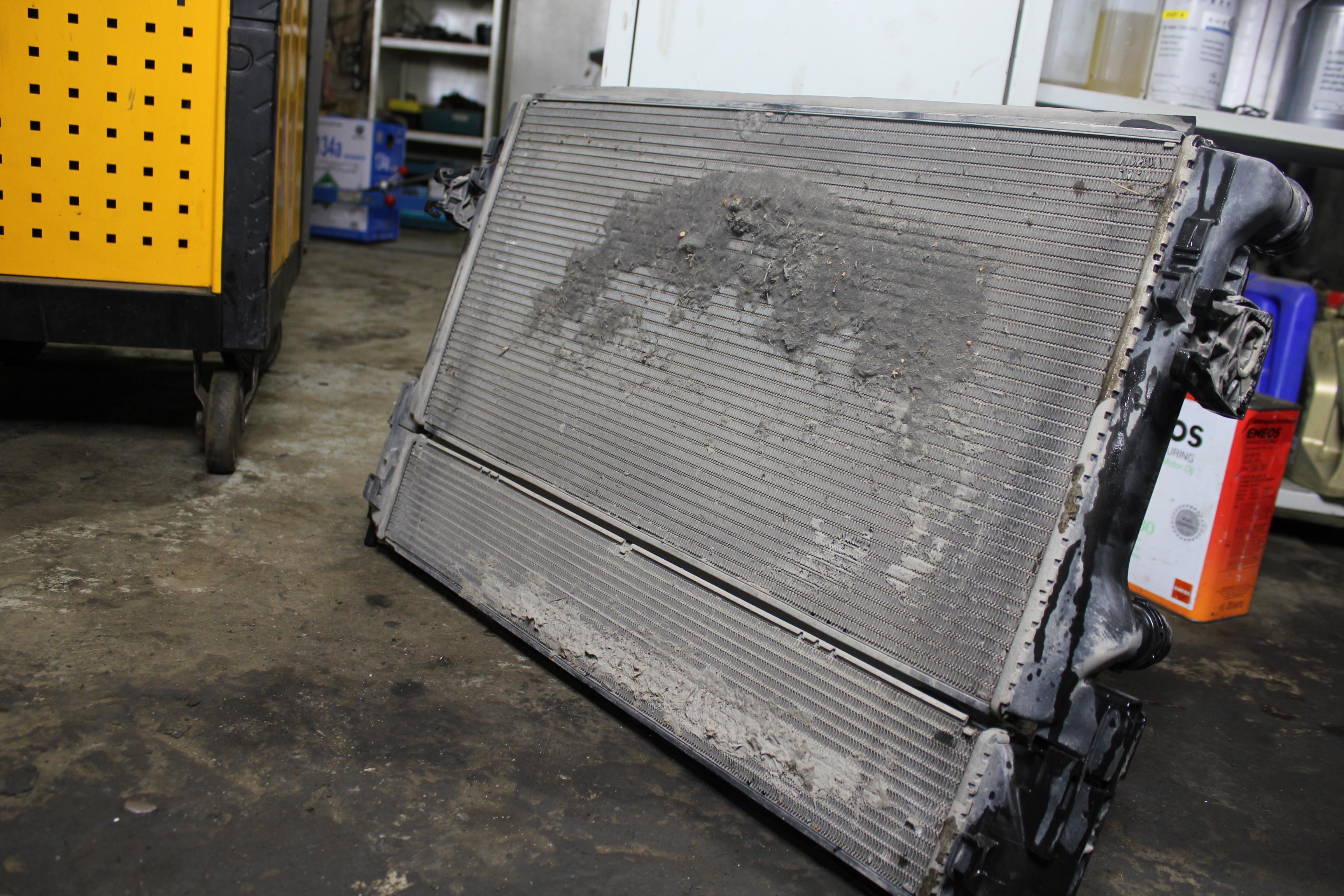 Мойка радиатора двигателя